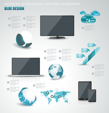 Set of web Icons and business and abstract symbols - Vector Illustration, Graphic Design  Vector
