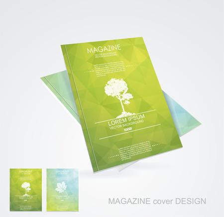 雑誌の表紙のレイアウト デザインのベクトル  イラスト・ベクター素材
