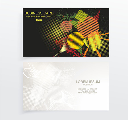 mobile advertising: Vector abstract creative business cards