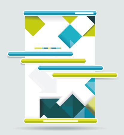rainbow slide: Web design navigation set