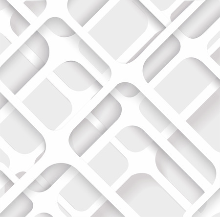 Seamless Geometric Pattern. Monochrome cellular texture. Repeating abstract background  Vector