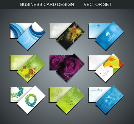 calling art: Various Business Card set collection abstract  design Illustration