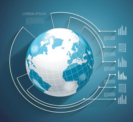 organization design: Business world concept modern design template  Illustration