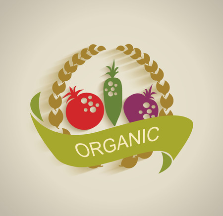 nature vegetable label  Vector