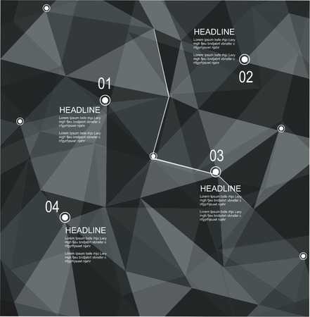 booklet design: Abstract geometric 3D background  Vector illustration