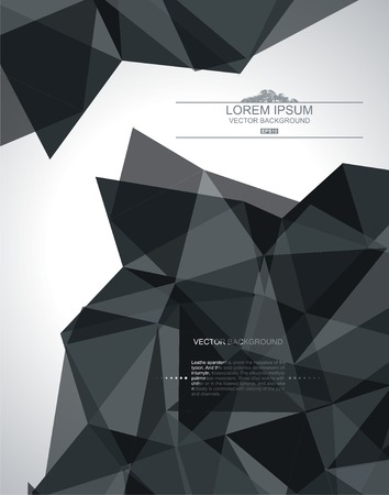 3d background: Abstract geometric 3D background  Vector illustration
