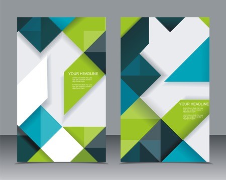 Vector brochure template design with cubes and arrows elements.  Vector