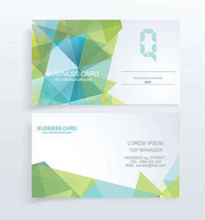 Vector abstract creative business cards Vector