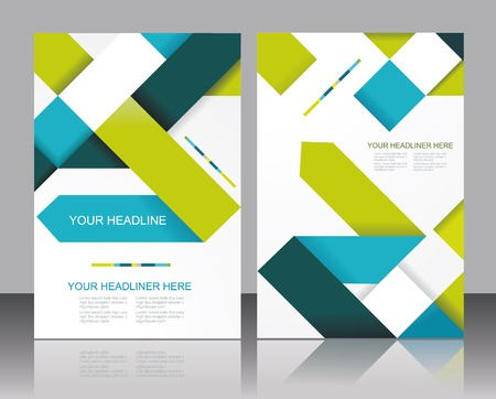 brochure cover design: brochure template design with cubes and arrows elements   Illustration