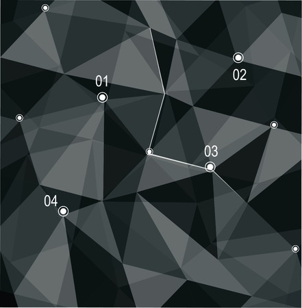 Abstract geometric 3D background. Vector illustration.  Vector