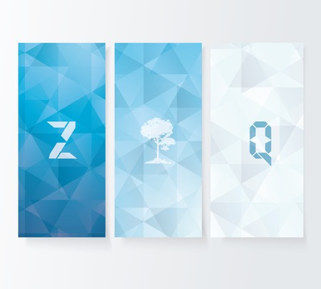 Abstract cover blue background, vector banners set. Stock Vector - 29897038