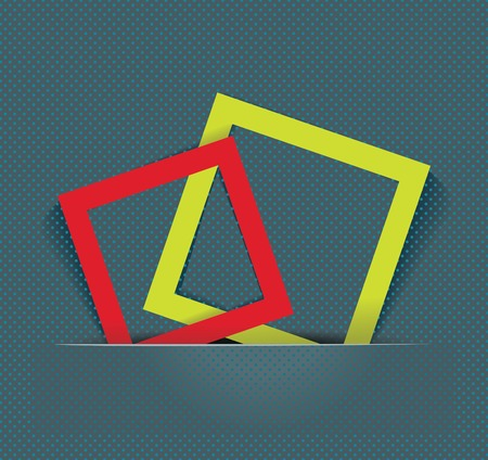 Abstract background with color frames Vector
