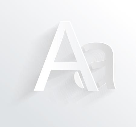 clean cut: Letter A, white paper symbol icon