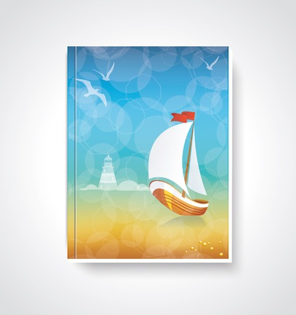 Your best travel magazine. Brochure cover design. Vector