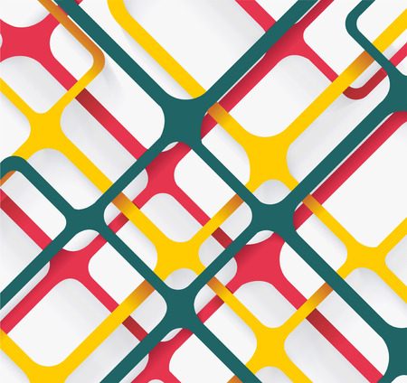 crimp: Seamless Geometric Pattern. Cellular texture. Repeating abstract background  Illustration