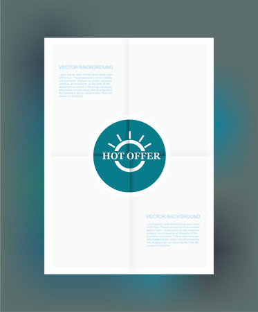 Best Offer Label on Folded paper, vector  Vector