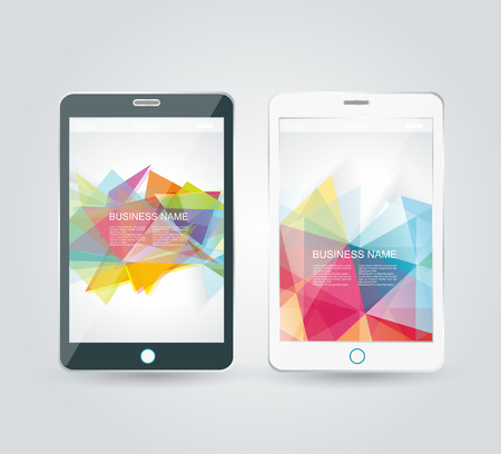Smartphone, mobile phone isolated, realistic vector illustration. Vector