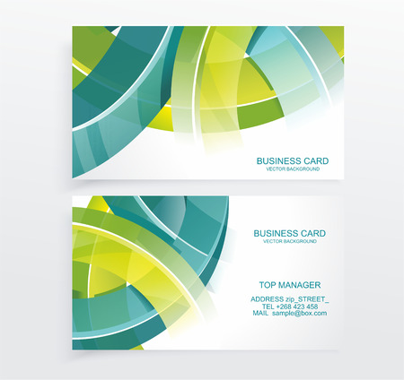 call card: Business card abstract background. Vector illustration.