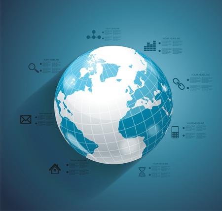 international money: Business world concept modern design template  Illustration