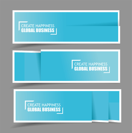 Paper design template for numbered paper banners,website layout. Vector EPS10  Vector