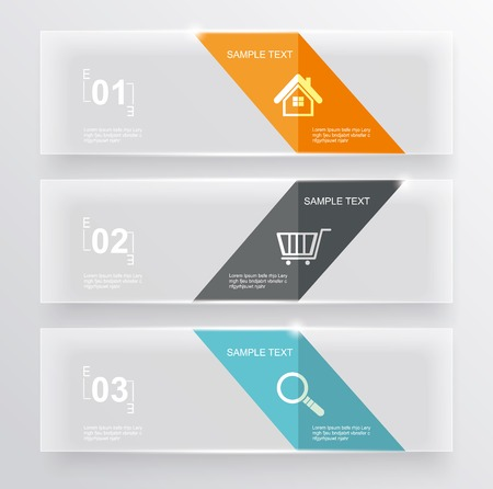 Set of glass banners.Can use to display information, ranking and statistics with orginal and modern style. Vector