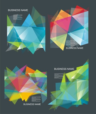 3d background: The abstract geometric 3D background. Vector illustration.
