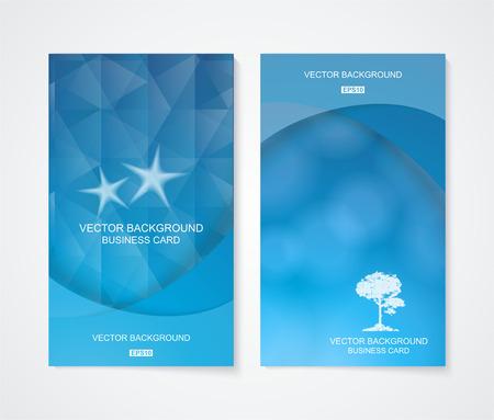 advertiser: Abstract business fresco banner set blu, vettore