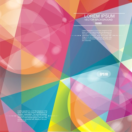 3D glasses: Glass bubble on abstract geometric 3D background. Vector illustration.