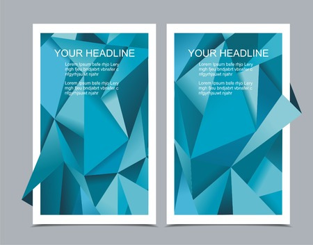 vertical divider: Banners with abstract geometrical background, polygonal design