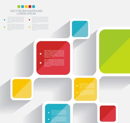 blank template: Vector brochure template design with cubes and squares elements.