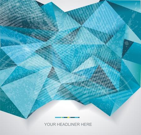 vertical divider: Abstract geometrical background, polygonal design Illustration