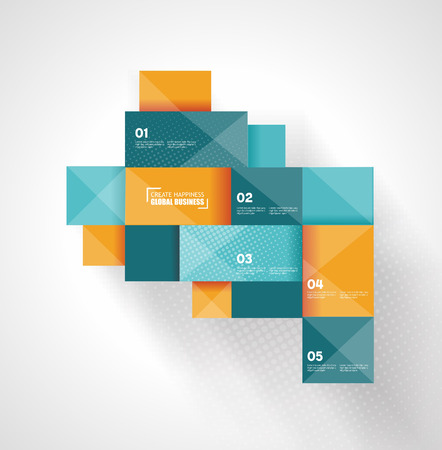 Modern Design template. Can be used for infographics, numbered panels, graphic or website layout. Vector