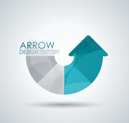 method: Vector circle arrow for infographic, diagram, graph, presentation and chart.