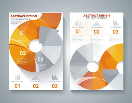 Set of presentation of flyer design content background. Vector