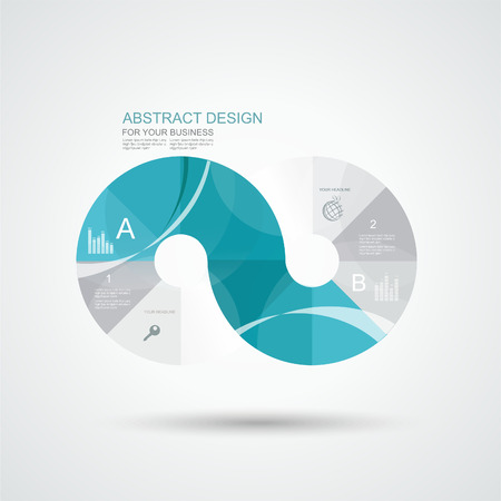 ellipses: Business Infographics circle  style, vector illustration. Can be used for  diagram, number options, step banners, web design.