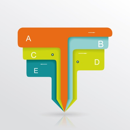 Modern minimalistic infographics banner. Vector illustration Vector