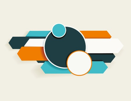 Abstract arrows and circles. Can be used for workflow layout, diagram, number options, web design. Vector