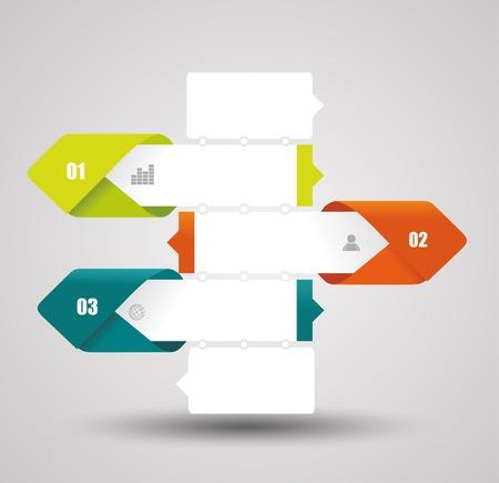 progress steps: Modern Design Layout - vector paper progress steps