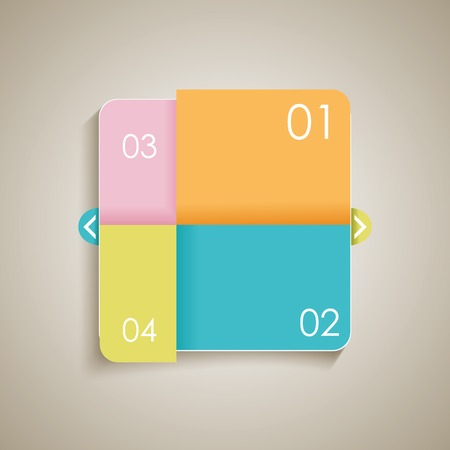 Modern Design template. Can be used for infographics, numbered banners, graphic or website layout, vector. Vector