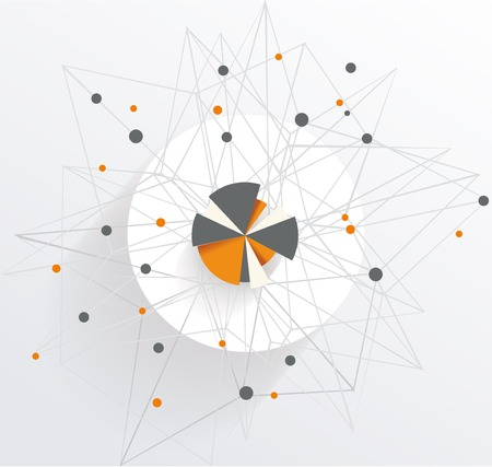 Abstract Mesh Background with circle infographics Vector