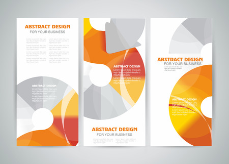 Vector banners or brochure template design with arrows elements. Vector