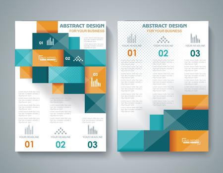 3 d の要素を持つベクトルのパンフレットのテンプレート デザイン。  イラスト・ベクター素材