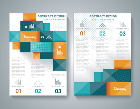 Vector brochure template design with 3d elements.