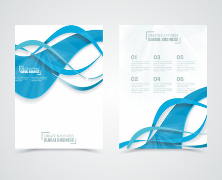 Geometric design vector business banners with blue waves Vector