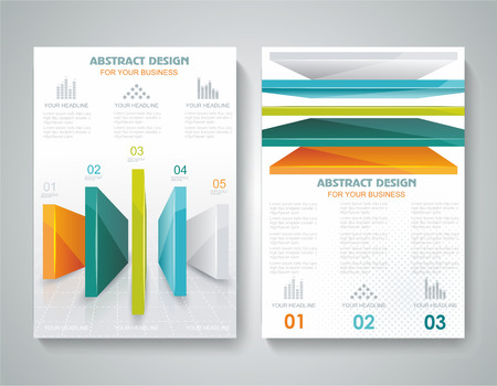 Vector brochure template design with 3d elements. Vector