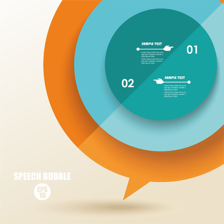 folded paper: color speech bubble from folded paper