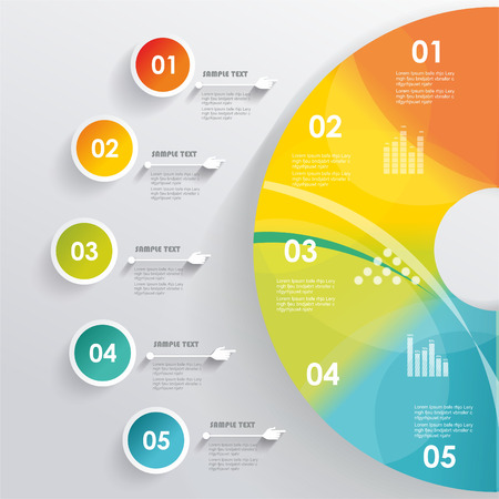 3D Infographic. Can be used for number options, workflow layout, diagram, web design.