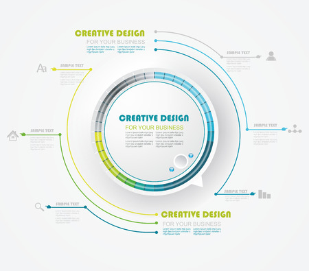 pre loader: Round preloading progress bar  Business Infographics circle style