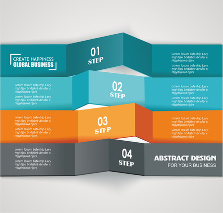 version: Design color number banners template for info graphic or website layout. Vector.