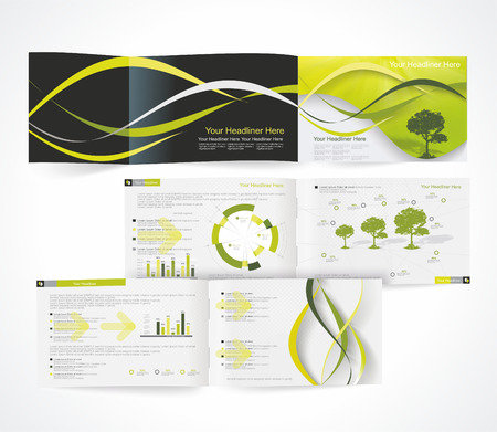 Blank catalog horizontal format, corporate brochure or cover design can be use for publishing, print and presentation.